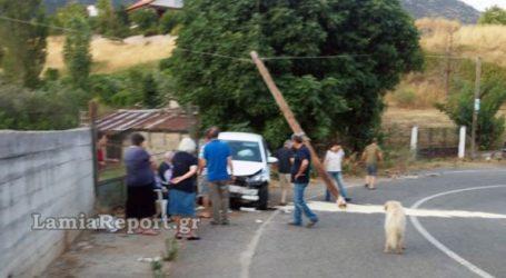 Τροχαίο ατύχημα με… «θύμα» κολόνα του ΟΤΕ