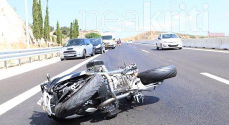 Κρήτη: Νεκρός δικυκλιστής σε τροχαίο στην Εθνική Οδό Ηρακλείου