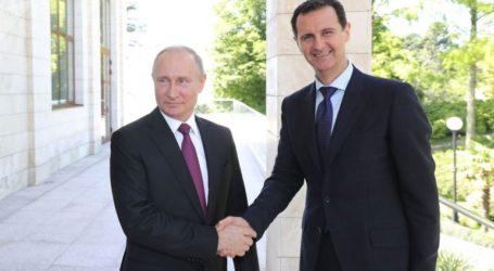 Ο Πούτιν συνεχάρη τον Άσαντ για την 75η επέτειο της σύστασης των διμερών διπλωματικών σχέσεων