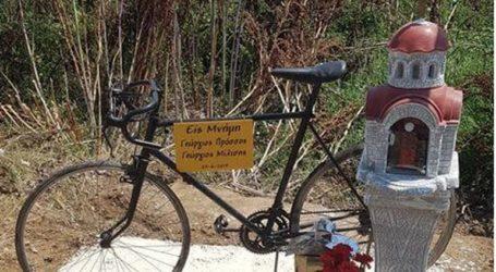 Εκκλησάκι στη μνήμη των δύο νεκρών ποδηλατών έστησε ομάδα φίλων από την Πτολεμαΐδα