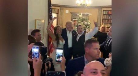 Ο Τραμπ πήγε ακάλεστος σε γάμο στο New Jersey