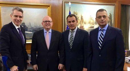Συνάντηση Ν. Παναγιωτόπουλου με τον βοηθό ΥΠΕΞ των ΗΠΑ Φ. Ρίκερ