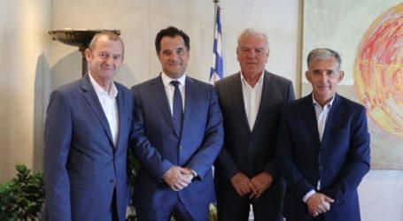 Συνάντηση Αδ. Γεωργιάδη με τους προέδρους Επιμελητηρίων Δράμας, Πέλλας και Πιερίας