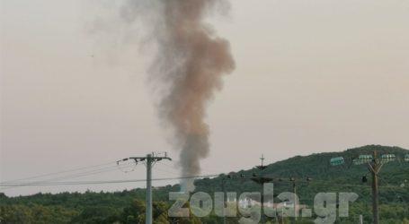 Πυρκαγιά σε εξέλιξη στο Σούνιο