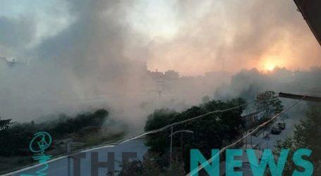Φωτιά σε βαγόνι του ΟΣΕ έξω από τον Σιδηροδρομικό Σταθμό Θεσσαλονίκης