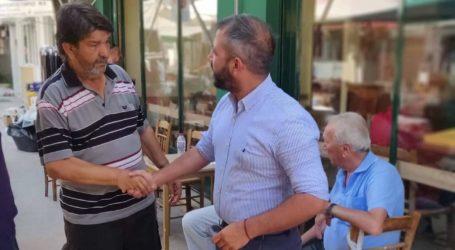 Ο Αλέξανδρος Μεϊκόπουλος στη Ν. Ιωνία την επομένη των εκλογών