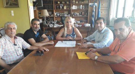 Συνάντηση της Κολυνδρίνη με τον Δήμαρχο Σκιάθου και στελέχη του Δήμου