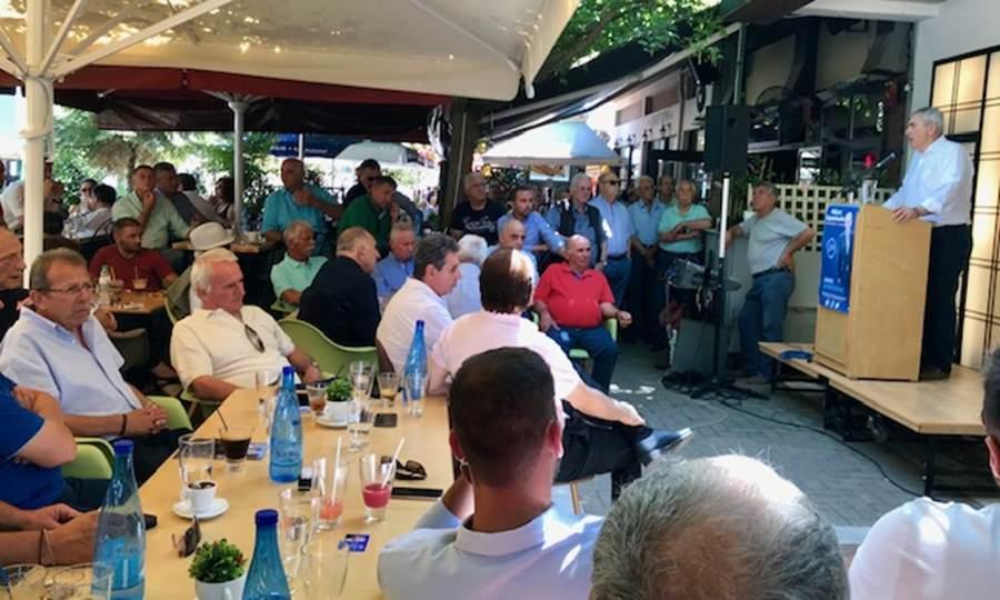 Χαρακόπουλος σε μεγάλη συγκέντρωση στα Φάρσαλα: Προτεραιότητα στη νέα τετραετία ο δρόμος Λάρισα-Φάρσαλα