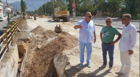 Στα έργα κατασκευής του καταθλιπτικού αγωγού ο δήμαρχος Βόλου Αχιλλέας Μπέος