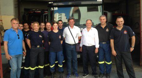 «Η ενίσχυση του ΚΚΕ μονόδρομος μπροστά στην αντιλαϊκή επίθεση από ΝΔ και ΣΥΡΙΖΑ» – Επίσκεψη στην Πυροσβεστική