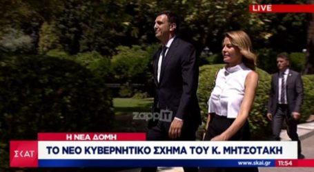 Τζένη Μπαλατσινού – Βασίλης Κικίλιας: Έκλεψαν τις εντυπώσεις στην ορκωμοσία της νέας κυβέρνησης