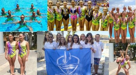 Καλοκαιρινή εκδήλωση – επίδειξη του τμήματος καλλιτεχνικής κολύμβησης της Νίκης Βόλου