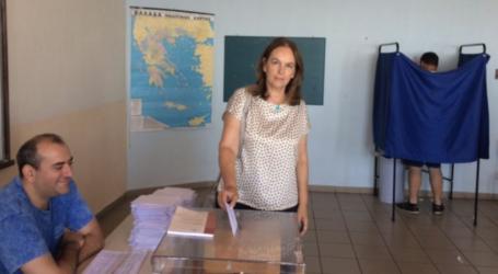 Ψήφισε και η Κατερίνα Παπανάτσιου