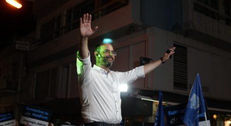 Επιβλητική σε όγκο η συγκέντρωση στο κέντρο του Βόλου – Συγκλονιστικός ο Μαραβέγιας συγκίνησε τα πλήθη