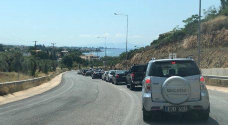 Βόλος: Ταλαιπωρία και τεράστιες ουρές στον δρόμο για το Πήλιο (εικόνες)