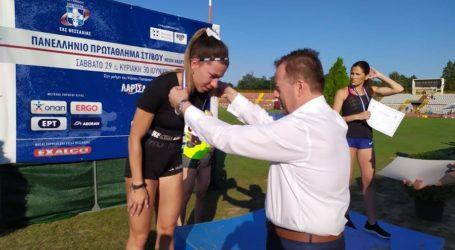 Πρωταθλητές στο πανελλήνιο πρωτάθλημα στίβου Κ23 βράβευσε ο Β. Κόκκαλης