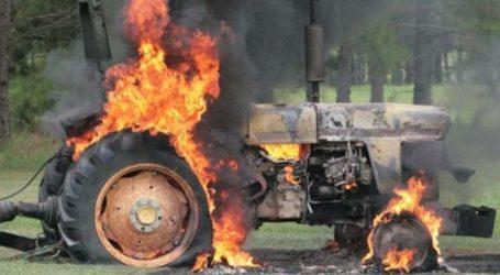 Τρακτέρ τυλίχθηκε στις φλόγες στην περιοχή της Κοιλάδας