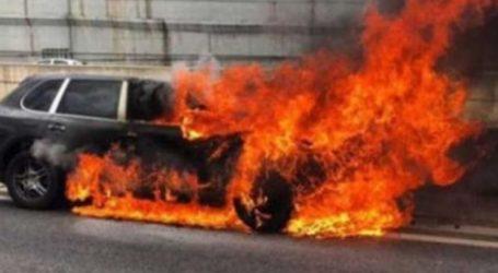 Πολυτελέστατο αυτοκίνητο «λαμπάδιασε» έξω από τη Λάρισα – 50.000 ευρώ η ζημιά
