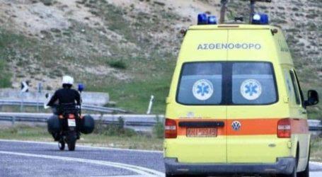 Τροχαίο ατύχημα στην εθνική οδό έξω από τον Βόλο