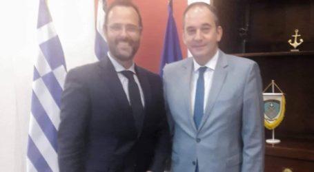 Συνάντηση του Κωνσταντίνου Μαραβέγια με τον ΥπουργόΝαυτιλίας και Νησιωτικής Πολιτικής Γιάννη Πλακιωτάκη