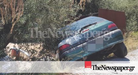 Τρίκερι: Αυτοκίνητο έπεσε σε χαντάκι [εικόνες]