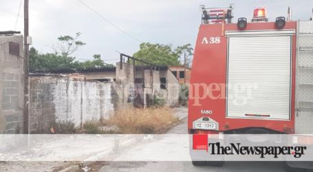 Βόλος: Φωτιά σε εγκαταλειμμένο σπίτι πίσω από τα ΚΤΕΛ