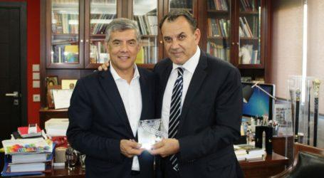 Με τον Υπουργό Εθνικής Άμυνας Νίκο Παναγιωτόπουλο συναντήθηκε ο Περιφερειάρχης Θεσσαλίας Κώστας Αγοραστός