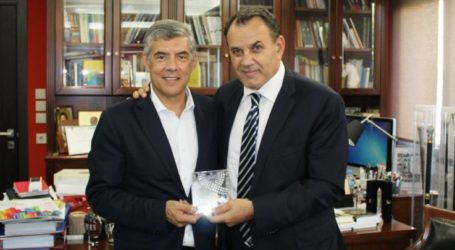 Με τον Υπουργό Εθνικής Άμυνας Νίκο Παναγιωτόπουλο συναντήθηκε ο Κώστας Αγοραστός