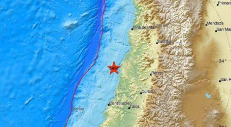 Σεισμός 6,4R ανοικτά της Χιλής