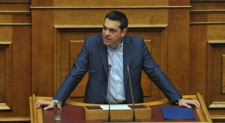 Η παρέμβαση του προέδρου του ΣΥΡΙΖΑ Αλέξη Τσίπρα στην Ολομέλεια της Βουλής