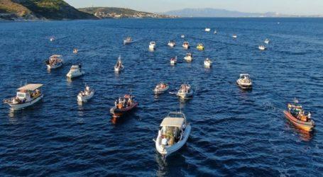 Η θεαματική διά θαλάσσης μεταφορά της εικόνας του Αγ. Αιμιλιανού