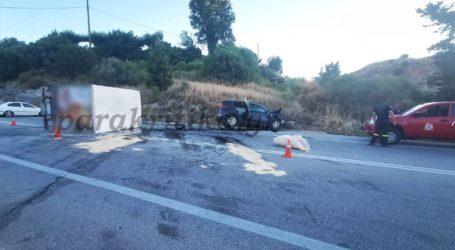 Τροχαίο δυστύχημα στα Χανιά με μία νεκρή και πέντε τραυματίες