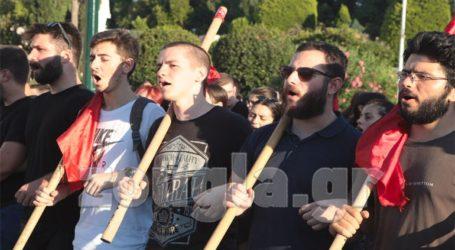 Συγκέντρωση διαμαρτυρίας για την κατάργηση του πανεπιστημιακού ασύλου στο κέντρο της Αθήνας