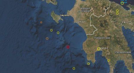 Αισθητή σεισμική δόνηση 4,6 Ρίχτερ σε θαλάσσια περιοχή νότια της Ζακύνθου
