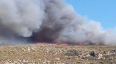 Φωτιά σε εξέλιξη στην Ελαφόνησο