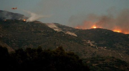 Σε εξέλιξη πυρκαγιά σε χαράδρα του Κιλκίς