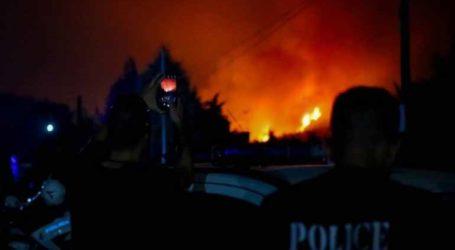 Σε ύφεση η φωτιά – Προσαγωγή υπόπτου για εμπρησμό