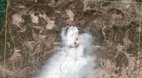Η καταστροφή στην Εύβοια από δορυφόρο