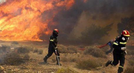 Μεγάλη πυρκαγιά ξέσπασε στη Ζάκυνθο