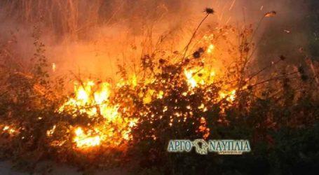 Φωτιά με δύο εστίες σε απόσταση 300 μέτρα μεταξύ τους