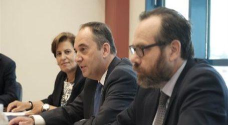 Συνάντηση του υπουργού Ναυτιλίας Γιάννη Πλακιωτάκη με τον εκτελεστικό διευθυντή της Frontex