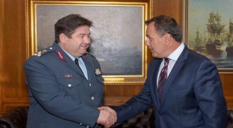 Συνάντηση του ΥΕΘΑ Νικόλαου Παναγιωτόπουλου με τον Αρχηγό της ΕΛ.ΑΣ. Αντιστράτηγο Μιχαήλ Καραμαλάκη