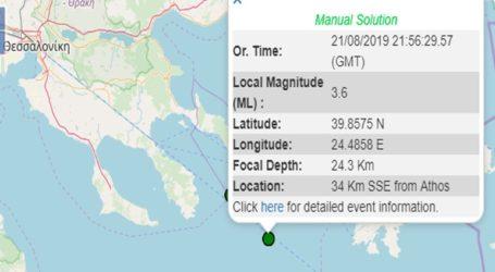 Σεισμός 3,6R ανοιχτά της Χαλκιδικής