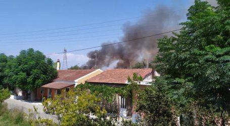 Μεγάλη φωτιά στη νότια Κέρκυρα