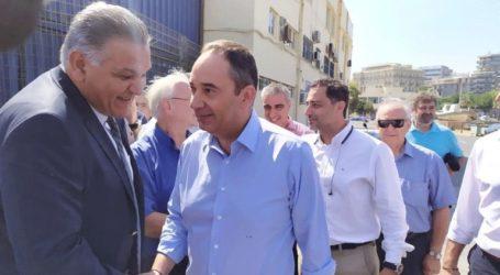 Στο Ηράκλειο Κρήτης ο υπουργός Ναυτιλίας Γιάννης Πλακιωτάκης