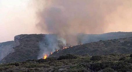 Σε ύφεση η πυρκαγιά στα Κύθηρα