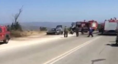 Αυτοκίνητο τυλίχθηκε στις φλόγες στον περιφερειακό Πεντέλης