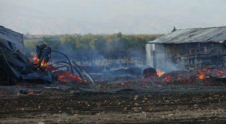 Φωτιά ξέσπασε σε βιοτεχνία στο χωριό Αμυγδαλέα