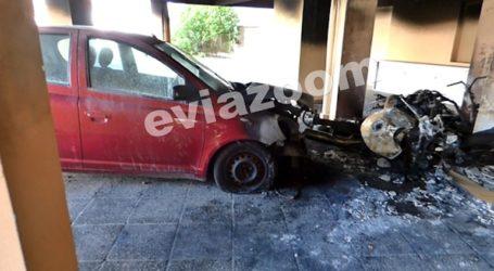 Χαλκίδα: Μεγάλη φωτιά σε πυλωτή πολυκατοικίας