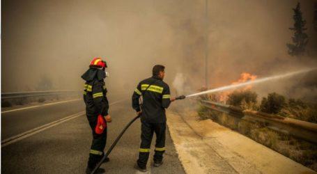 Φωτιά κοντά σε μονάδα λυμάτων της ΕΥΔΑΠ στη Λυκόβρυση